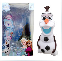 Wholesale 23cm Frozen Cute OLAF Plastic music Moneybox Piggy Coin Bank Frozen A156