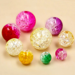 Wholesale 300g Two Tone Mixed Colors Acrylic mm mm mm mm U Pick Size Round Sparkle Crackley Spacer Loose Beads