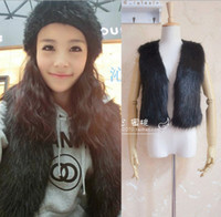 Wholesale Brand New Autumn Spring and Winter Imitation Faux Fox Fur Vest Outerwear Womens Coat Faux Waistcoat