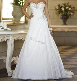 Wholesale Sweetheart Chiffon Sweep Train New Elegant Backless Bridal Dress Plus Size Wedding Dresses Wedding gown