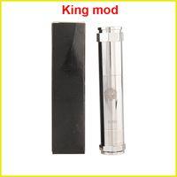 Adjustable   King Mechanical Mod clone Locking Bottom Button Adjustable E Cigarette mod vs King Nemesis Chi you mod via dhl