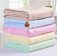 Wholesale 100 bamboo fiber towels waffle children antibacterial blanket