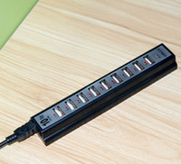 Wholesale 10 Port high Speed USB Hub US Power Adapter for PC Laptop