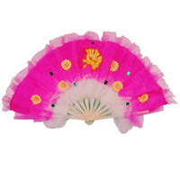 Wholesale Chinese Dance Fans Performance Fans For Women Arts Crafts Handmade inches Mixed Colors New Arrival Folding Fans