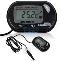 Wholesale 10sets LCD Digital Fish Tank Aquarium Temperature Thermometer Water Terrarium Black TK0215