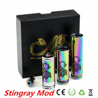 18650 18350 18550 Adjustable China Hot Brand New Color Rainbow Stingray Mod Battery Tube Clone Rainbow Stingray Starter Kit Mod tube for 18650 18350 18500 Mech Mod 10pcs lot