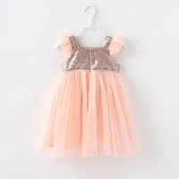 baby girl kids Frozen dress Sequins sequin dress flower tutu...