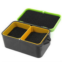 Cheap Plastic Hot Sale Portable Double Layer Worms Maggots Live Bait Box for Fishing -Color Random Delivery