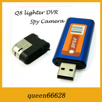 Wholesale New Hotsell HD Mini DV USB Q8 aluminium alloy Lighter Video Recorder Camcorder DVR Light Camera