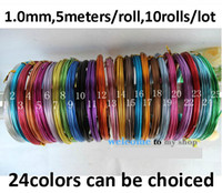 Wholesale 1mm mm mm aluminum wire aluminum line diy handmade craft wire handmade materials meters mix colors meters roll