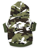 Wholesale Army Green Hoodie Hooded Christmas T Tee Shirt Small Dog Clothes Costume Green Camo Dog Apprael