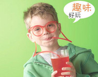 Wholesale pieces Drinking Straw Eye Glasses Soft Silly Novelty Toy Gift Funny party DIY