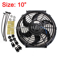 Wholesale 10Inch V W Slim Reversible Electric Radiator Cooling Fan Push Pull Easy Install