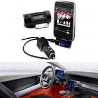 FM Transmitter FM Transmitters Yes Wireless LCD Stereo Black FM Transmitter Radio MP3 + Car Audio Charger Adapter Connector For iPhone 4S 3 For iPod For Nano Touch