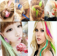 Wholesale Colorful hairpiece with mini clip women DIY hair wear hair accessories wig hairpiece CM long