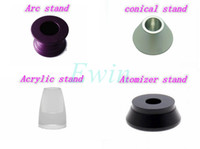 Wholesale Metal Alloy acylic stand Base Displays holder for e cig displays e cigarettes holder colorful e cig stand Battery Atomizer Display Stand DHL