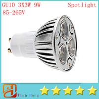 200pcs lot Led Light Dimmable GU10 3X3W 9W Led Lamp 82V- 265V...