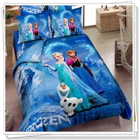 Wholesale 3D cartoon kid child bedding sets Princess Elsa amp Anna Olaf Frozen bed set bed set twin single double queen king size