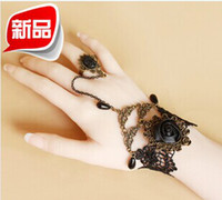 European and American Vintage Black Rose Lace Bracelet beads...