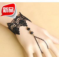 Goth retro charm bracelet beads lace female wrist jewelry Yi...