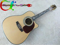 Wholesale NEW Custom D45S Acoustic Guitar IN Natural amp Acoustic Electric Guitar Flowers fingerboard Mosaic