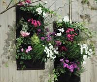 Wholesale Home Garden bag Pocket Vertical Green Garden Wall Planter pocket Planting Bags Flower Hanging Pots