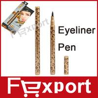1015 1 PC Eyeliner Pen High Quality Waterproof Leopard Design Liquid Eye Liner Pen Black Eyeliner Pencil,1015