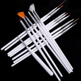 Wholesale New set Acrylic Nail Art Design Painting Tool Pen Polish Brush Set Kit DIY Pro set factory price