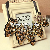 Fashion Necklaces Costume Jewelry Wholesale High Quality Costume Jewelry,Exquisite Handmade Detachable False Collar,Ribbon Crystal Bead Statement Chokers Necklace