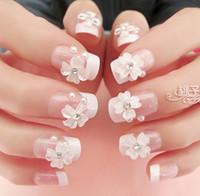 Full Natural Tips Square  Nail Tips Wholesale-MN-New 2014 full cover nails wedding kawaii3D artificial nail french acrylic present nail glue nail tools