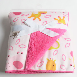 Wholesale 2014 Freeshipping Character Unisex Jacquard Swaddle Pillow Baby Blankets Coral Fleece Bag Newborn Sleeping Blanket Factory Sales