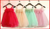 al por mayor niñas vestidos de encaje de diseños-Las muchachas del verano de los bebés vestidos de ropa de vestir vestidos de novia de los cabritos del diseño del vestido de partido de los bebés Ropa Niños vestidos de encaje de la falda del tutú