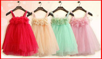 Wholesale Summer Girls Dresses Baby Girls Lace dress Clothes Wedding Dresses Design Kids Dress Children Clothing baby Girls Party Dresses Tutu Skirt