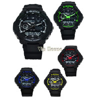 Wholesale 2014 New Style Multi Function S Shock Sports stainless steel Watch Led Analog Digital Waterproof Alarm wrist watch B12 SV000894