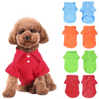 Wholesale 4Pc Pet Dog Puppy Polo T Shirt Clothes Outfit Apparel Coats Tops Dog Apprael