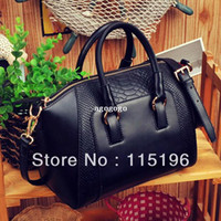 Shoulder Bags Women Plain Free shipping Women's handbag hot bags 2013 one shoulder cross-body fashion bagS lady Bag+black Handbags designers brand leather