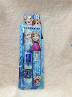 Wholesale Hot Sets New Style Fashion Frozen Elsa students pencil Stationery set School supplies Student Gift