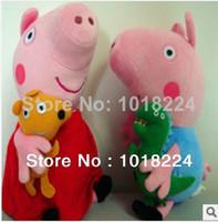 Teddy Bear White Plush free shipping 2014 new Hot Sale 30CM Ballerina Peppa pig Pirates george Pig Set Stuffed Animal Plush Dolls Baby Toys wholesale