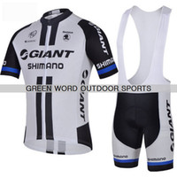 Short Men polyester Wholesale,2014 Tour de France GIANT team Short sleeve Cycling Jersey and BIB Shorts pants GEL PAD XS~4XL free shipping