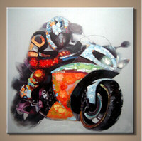 Wholesale Hand Painted Top Quality Motorcycle Painting on Canvas Autobicycle Oil Wall Art for Home Decoration in Living Room and Bedroom pc