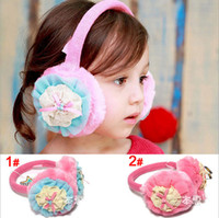 Wholesale Baby Children Earmuffs Pearl Flower Design Plus Velvet Earmuffs Kids Accessories