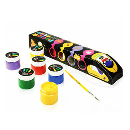 Wholesale Joan Miro Color Washable Fingerpaints Primary Fashion Train Art Paint Pigments Promotion Gift SK057