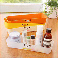 Bamboo plastic drawer storage box - Japanese shipping over easily bear cosmetic plastic drawer storage box desktop storage box finishing debris