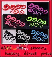 Wholesale 2014 Fashion Flesh tunnel body jewelry F35 mix mm acrylic candy color body piercing jewerly spiral ear plug