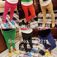 Casual Pants Girl Spring / Autumn 2014 spring girls clothing children's pants candy color pencil pants boot cut jeans skinny pants child baby solid color trousers