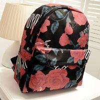 Wholesale new women s handbag preppy style rose flower big school bag women messenger bag