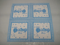 baby boy napkins - a little baby boy theme printing paper napkin serviette inch cm square birthday party festive supplies