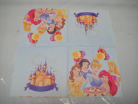 Wholesale 3 princess theme printing paper napkin serviette inch cm square birthday party festive supplies
