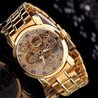 Wholesale Fashion golded stell Band Stainless Steel automatic Mechanical Watch For Man Gold Mechanical Wrist Watch