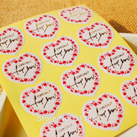 Bag Sesling Single Sided  Waterproof  Heart shaped with gold Especially for you sealing sticker , adhesive sticker 240PCS LOT